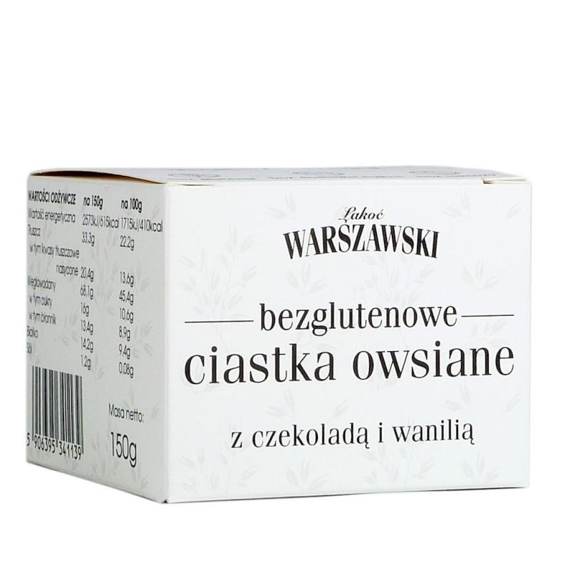 Ciastka owsiane bezglutenowe z czekoladą 150g WARSZAWSKI