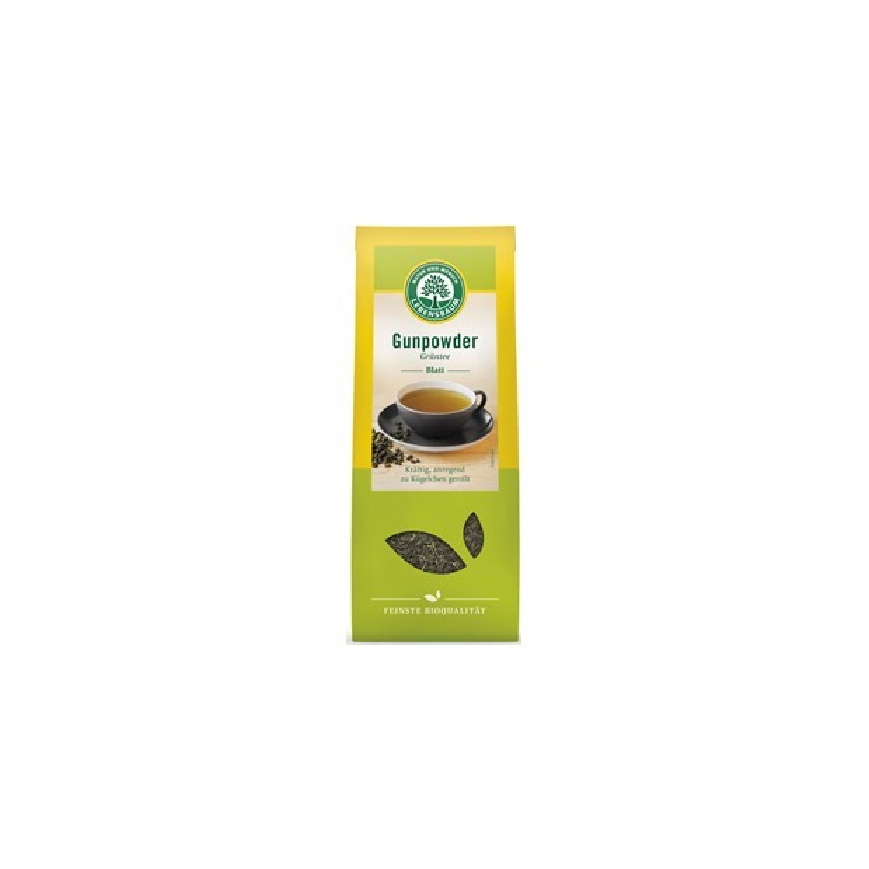 Herbata zielona Gunpowder Liściasta BIO 100g - LEBENSBAUM