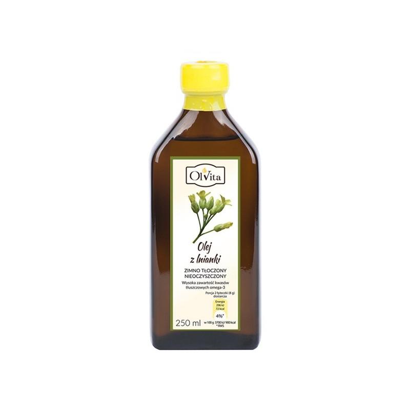 Olej z lnianki zimno tłoczony 250ml OLVITA
