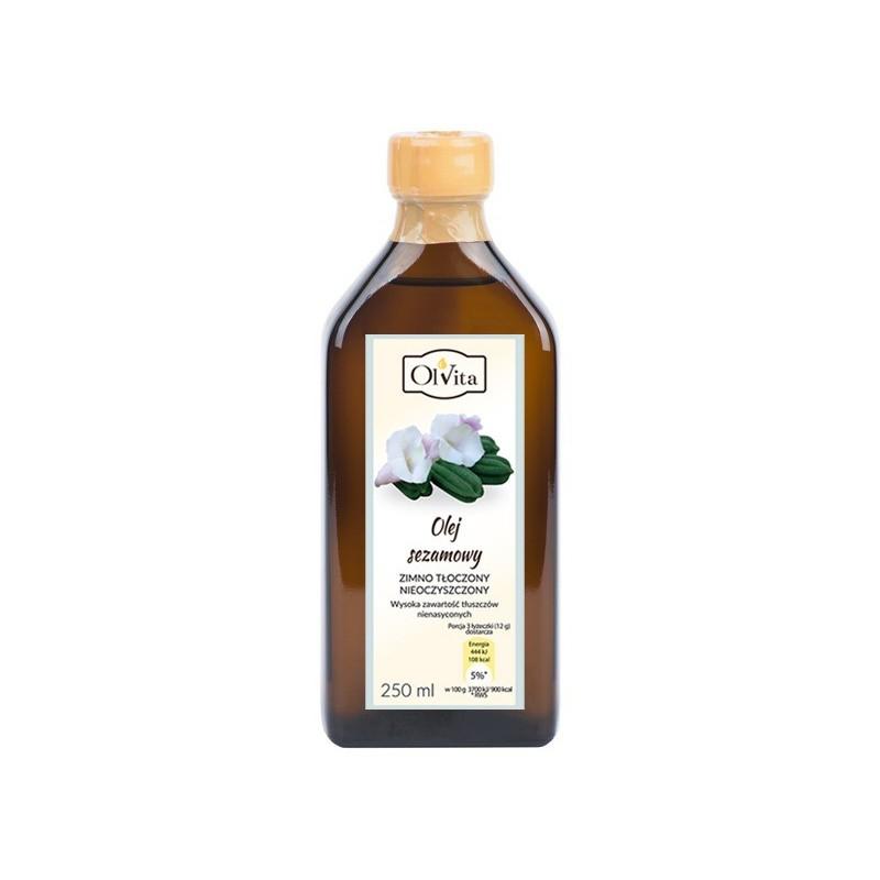 Olej sezamowy zimno tłoczony 250ml OLVITA