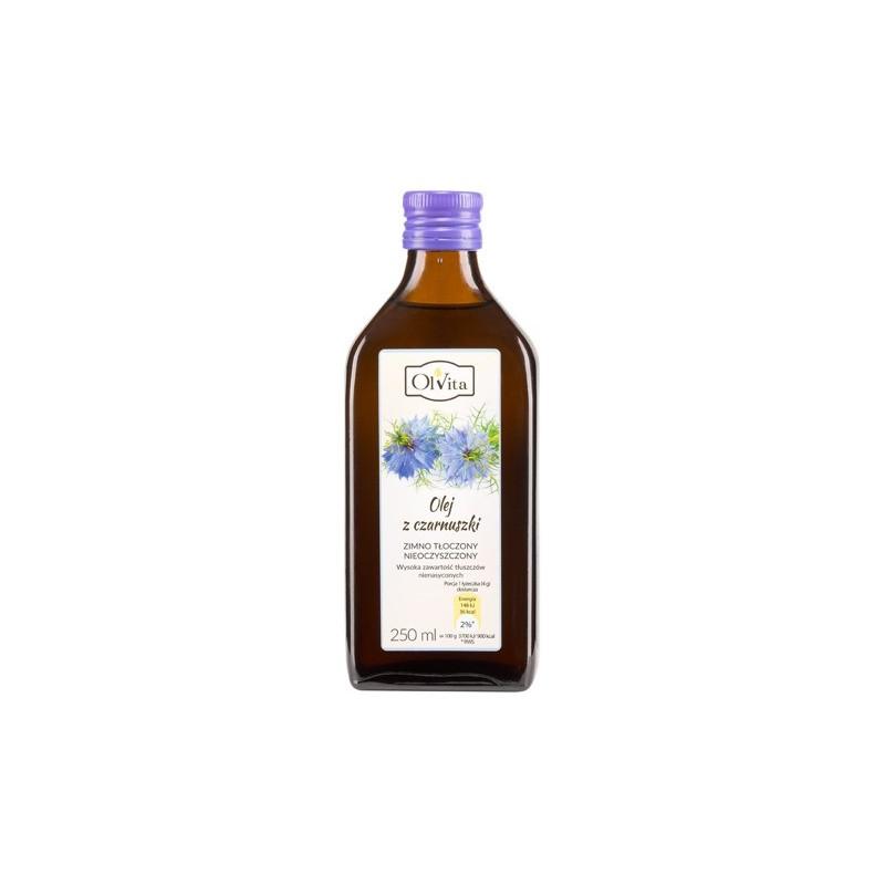 Olej z czarnuszki zimno tłoczony 250ml OLVITA