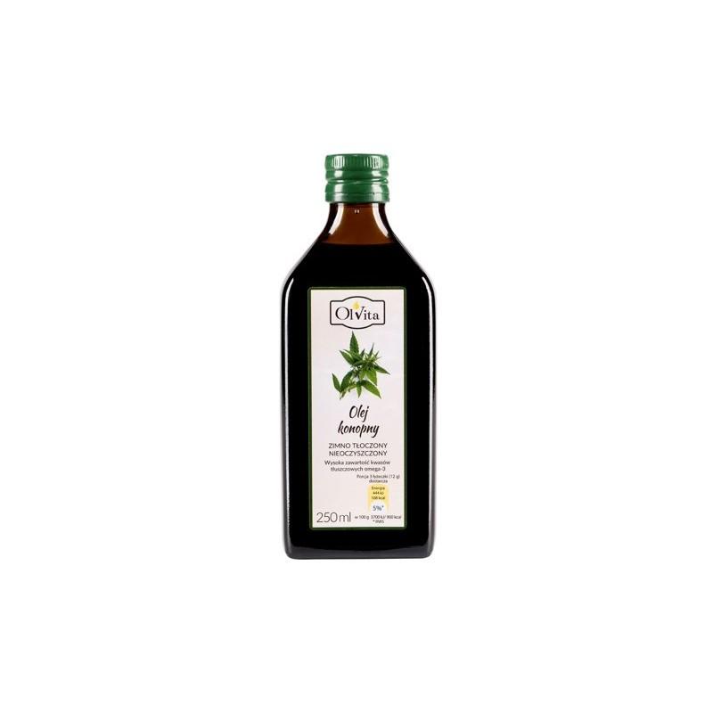 Olej konopny zimno tłoczony 250ml OLVITA