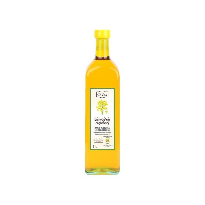 Olej rzepakowy zimno tłoczony 1000ml OLVITA