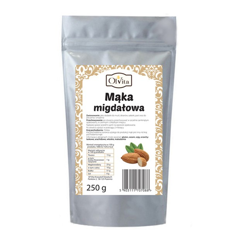 Mąka migdałowa 250g OLVITA