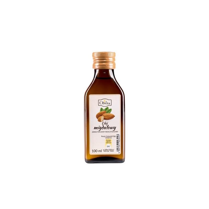 Olej migdałowy zimno tłoczony 100ml OLVITA