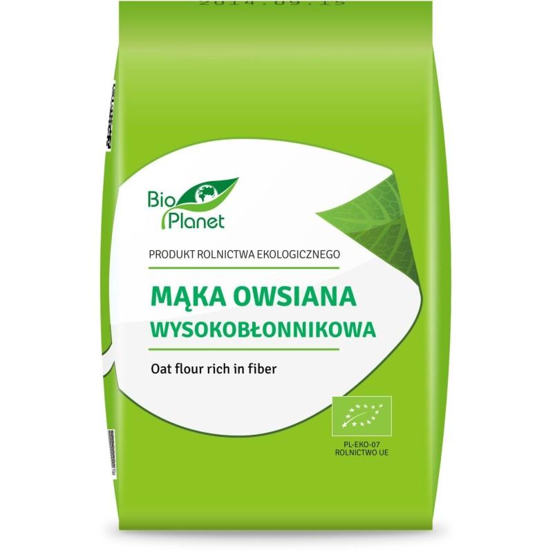 Mąka owsiana wysokobłonnikowa bio 1kg BIO PLANET