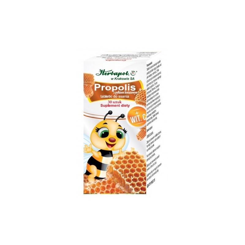 Propolis z pyłkiem kwiatowym 30 szt. HERBAPOL